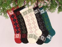 Christmas Argyle Christmas Stocking